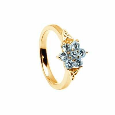 14kt Gold .65cts Cluster Diamond Engagement Ring