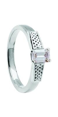 14kt Gold .50cts Emerald Cut Diamond Ring
