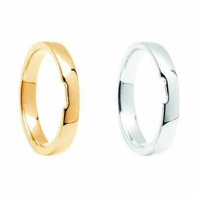 Matching Plain Wedding Band to fit Engagement Rings BO|ENG01 thru BO|ENG08