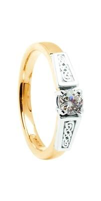 14kt Gold .50cts Brilliant Cut Diamond Ring