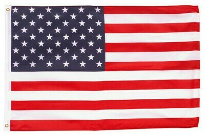 2ft. x 3ft. American Flag with Grommets (2 Rings)