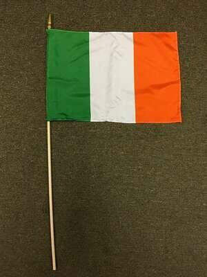 """12"""" x 18"""" Large Ireland Stick Flag"""