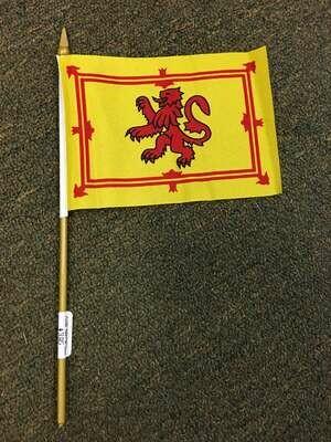 "4"" x 6"" Scottish Stick Flag (Rampant Lion)"