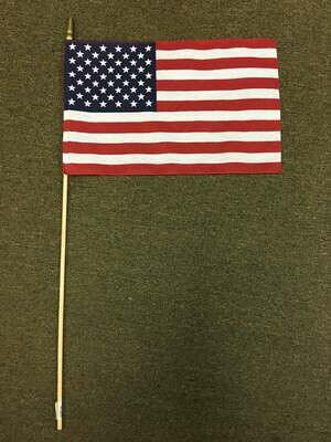 "12"" x 18"" Large American Stick Flag"