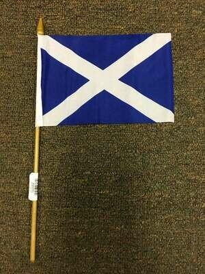 "4"" x 6"" Scottish Stick Flag (St. Andrews)"