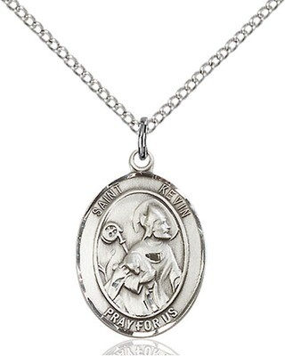 Sterling Silver St. Kevin Pendant on an 18