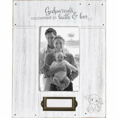 Godparents, Connected to Faith And Love Photo Frame