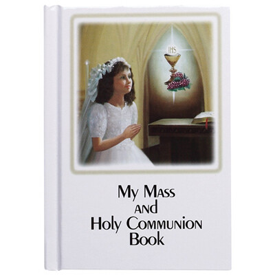 My Mass and Holy Communion Laminated Hard Cover Book- Girl
