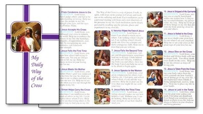 My Daily Way of the Cross, Folded Pamphlet