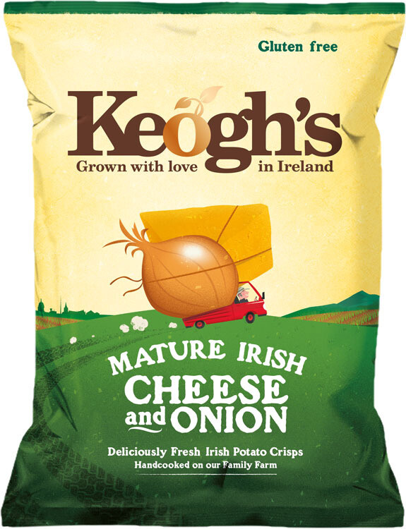 Keoghs Dubliner Cheese & Onion Crisps