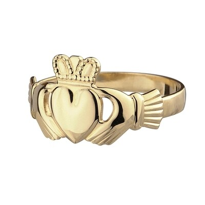 Ladies 10kt Gold Claddagh Ring- Our Standard Ladies Claddagh Ring