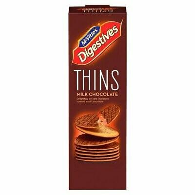 McVitie's Digestives Thins Milk Chocolate 180g