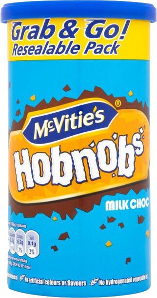 McVitie's Hobnob's Milk Chocolate 250g