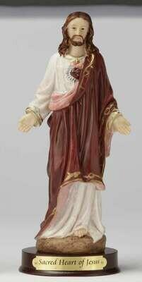 "8"" Sacred Heart of Jesus Statue"