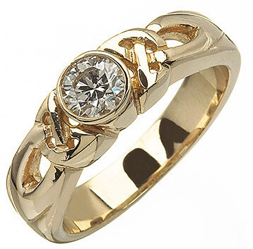 14kt Gold Celtic Solitaire Ring (1 x .25 ct.) Brilliant Cut Diamond