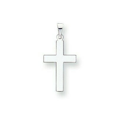 14kt. White Gold Polished Cross Pendant (Small)