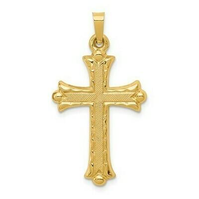 14kt. Gold Large Hollow Cross Pendant