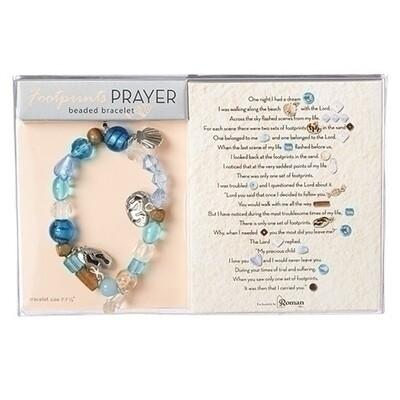 Footprints Prayer Bracelet