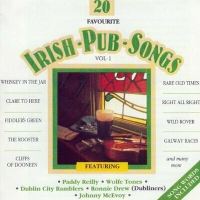 20 Favorite Irish Pub Songs- Volume 1, CD