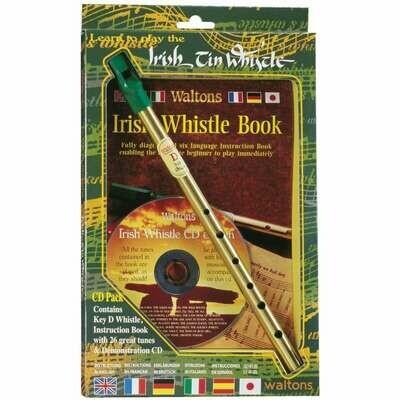 Irish Tin Whistle, Instruction Book, and CD