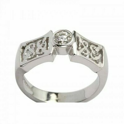 14kt Gold Celtic Solitaire Ring (1x .25 ct.) Brilliant Cut Diamond