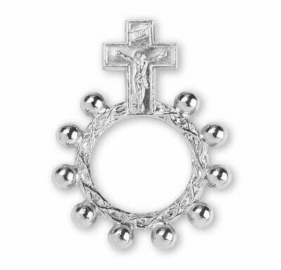 Rosary Ring- Silver Color