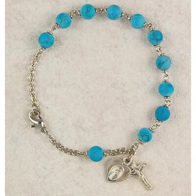 Adult Turquoise Rosary Bracelet