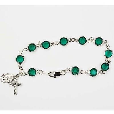 Adult Emerald Rosary Bracelet