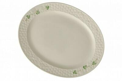 Belleek Shamrock Large Oval Platter