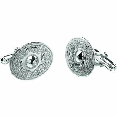 Sterling Silver Original Celtic Warrior® Cufflinks- Oval