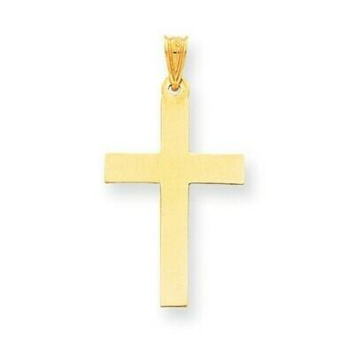 14kt. Gold Polished Cross Pendant (Large)