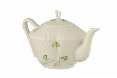Belleek Harp Shamrock Teapot