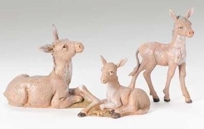 """5"""" Fontanini Donkey Family"""