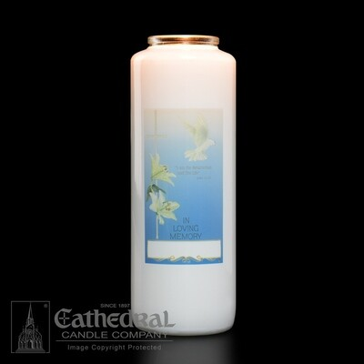 In Loving Memory- 6-Day Glass Bottle Style Candles- Case of 12