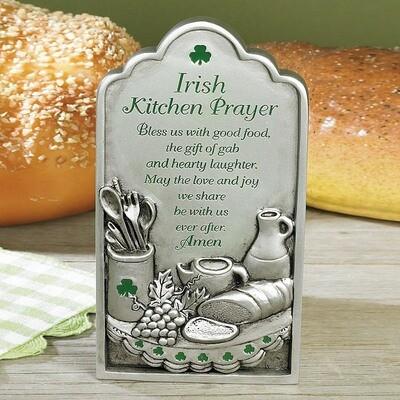 """""""Irish Kitchen Prayer"""" Plaque"""