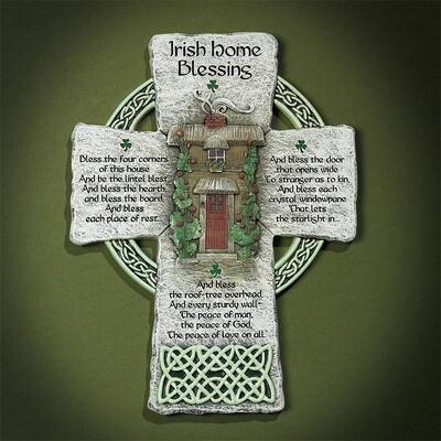 Home Blessing Irish Wall Cross