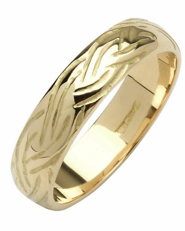 Mens 14kt Gold Narrow Dome Livia Wedding Band