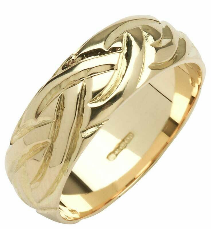 Mens 14kt Gold Wide Dome Livia Wedding Band