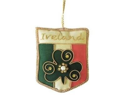 Irish Tricolour Crest Ornament