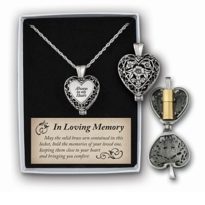 Always in My Heart Pewter Memorial Locket