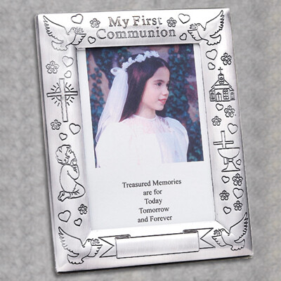 First Holy Communion Silverplated Photo Frame