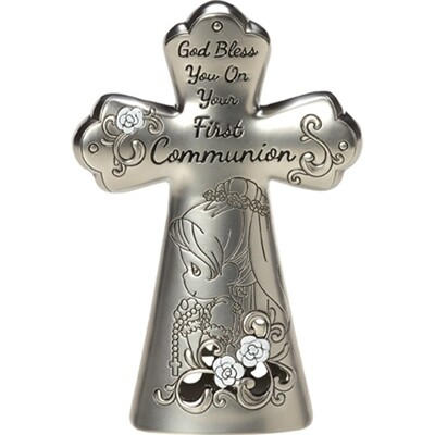 God Bless You On Your First Communion, Girl Cross