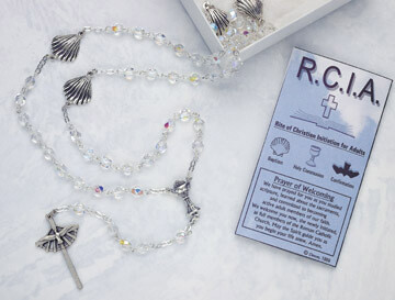 Commenmorative RCIA Crystal Rosary