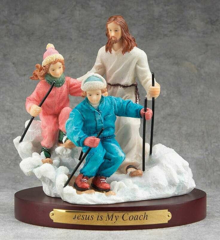 Jesus and Skiing Figurine