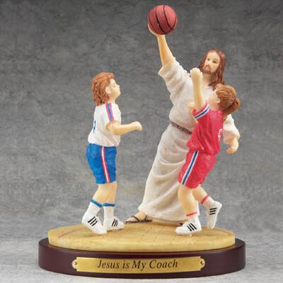 Jesus and Basketball Figurine