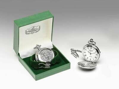 Mullingar Pewter Pocket Watch Celtic Spiral Design