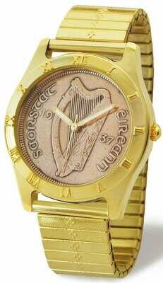 Irish Penny Watch - Gents Gold Flexo Band