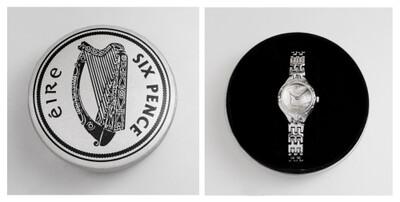 Irish Sixpenny Watch - Silver - Ladies