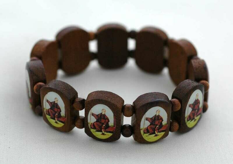 Brazilian Wood Bracelet- St. Peregrine
