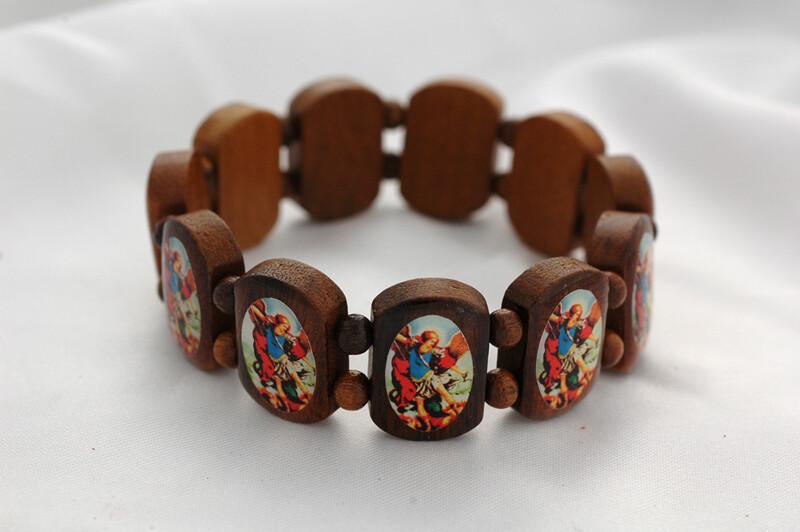 Brazilian Wood Bracelet- St. Michael